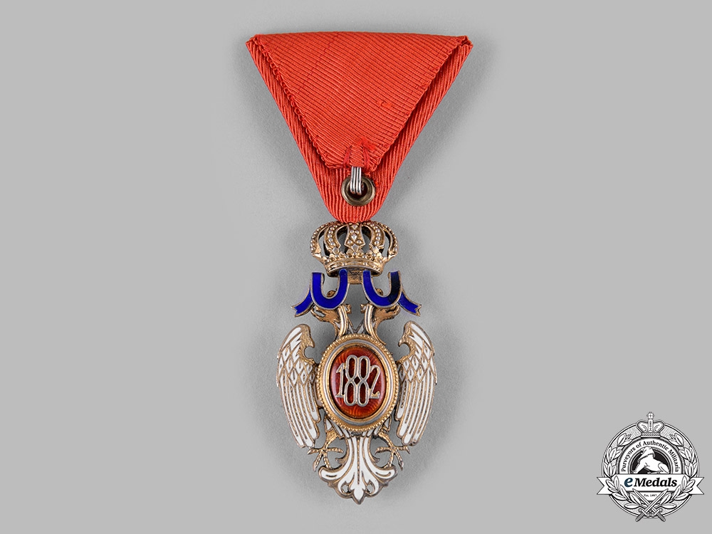 Serbia, Kingdom. An Order of the White Eagle, V Class Knight, c.1930