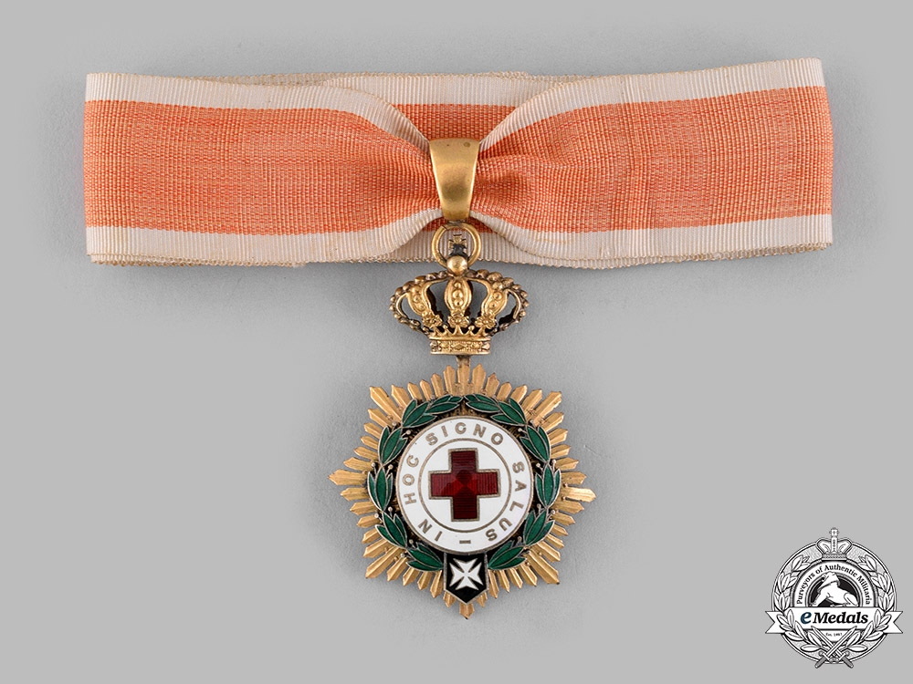 Spain, Kingdom. An Order of the Red Cross, I Class Commander