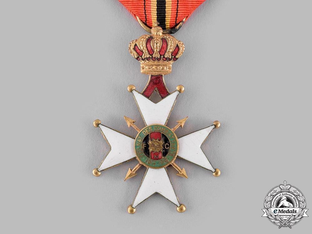 Belgium, Kingdom. A Cross of the National Federation of Combatants of Belgium 1914-1918
