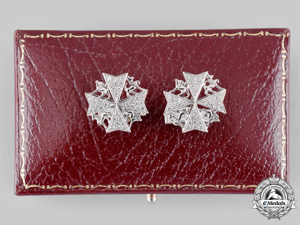 United Kingdom. A Spink-Made Order of St. John Cufflinks Pair