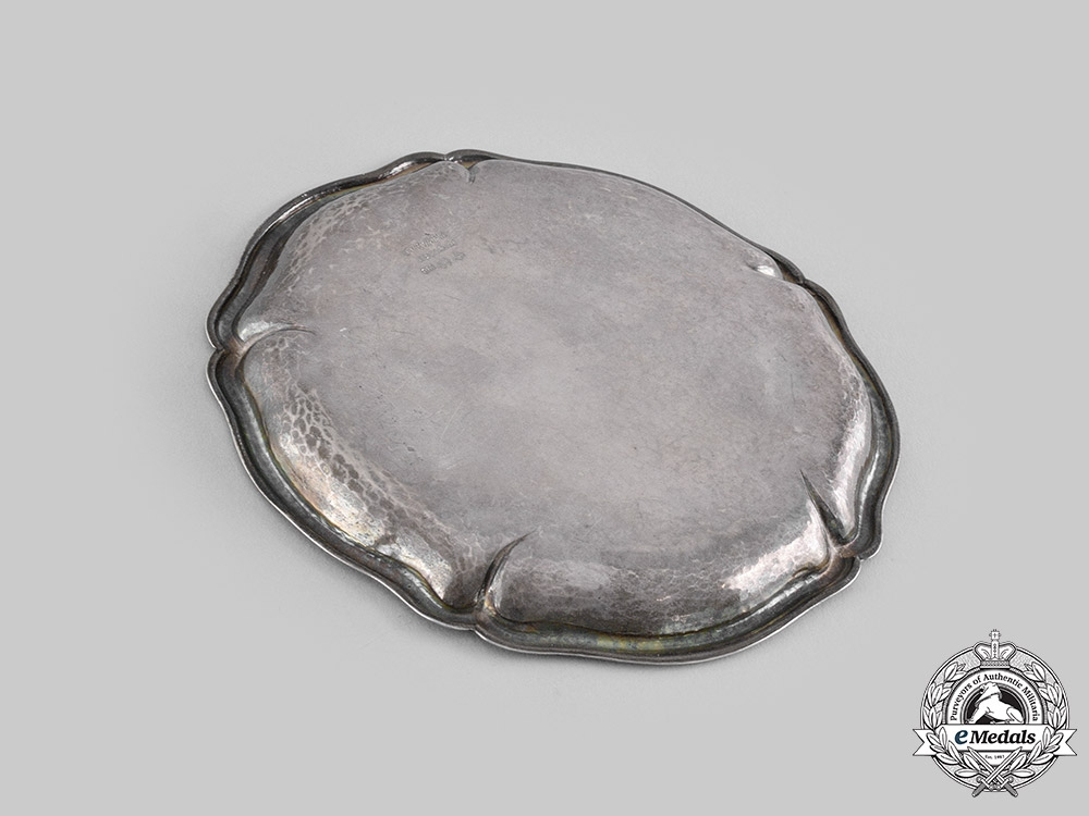 Germany, Imperial. A Commemorative Silver Presentation Plate, by Wagner