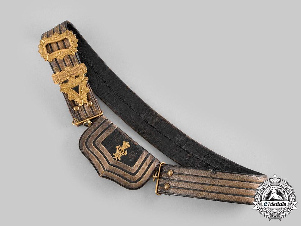 """United Kingdom. A Victorian 21st (Empress of India's) Lancers, AKA """"Grey Lancers"""", Officer's Shoulder Pouch & Cross Belt, c.1880"""