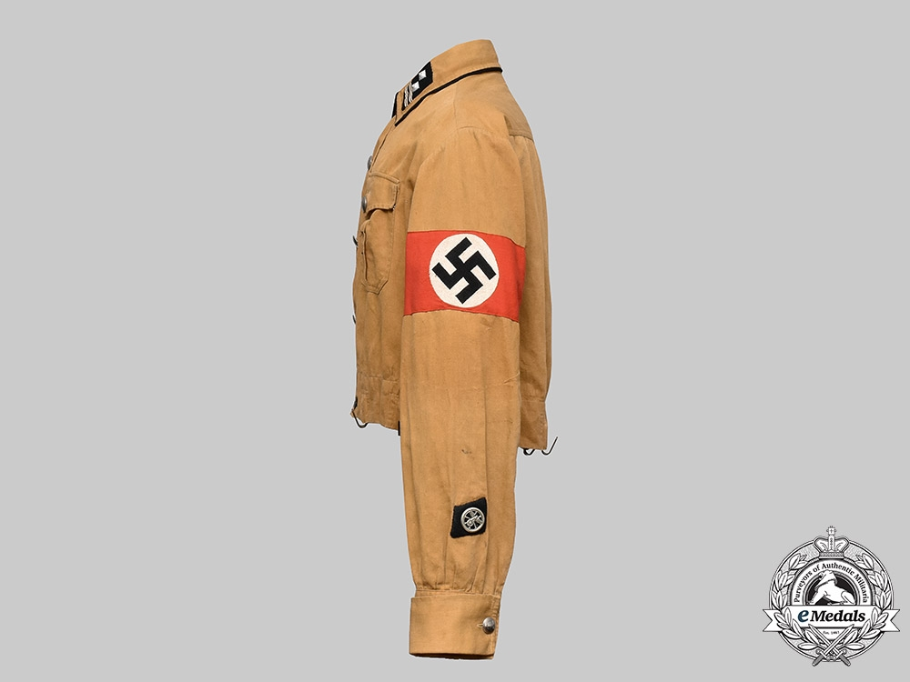 Germany, NSKK. A National Socialist Motor Corps (NSKK) Haupttruppführer's Brownshirt