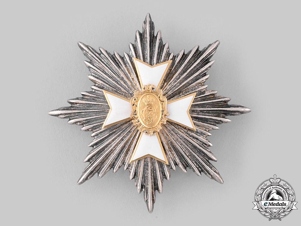 Schwarzburg-Sonderhausen, Principality. A Schwarzburg Dutchy Honour Cross, Breast Star (Collectors Copy)
