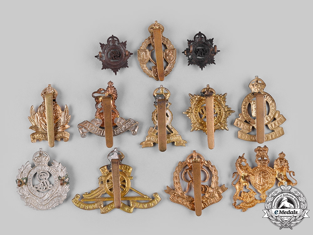 United Kingdom. A Lot of Cap Badges