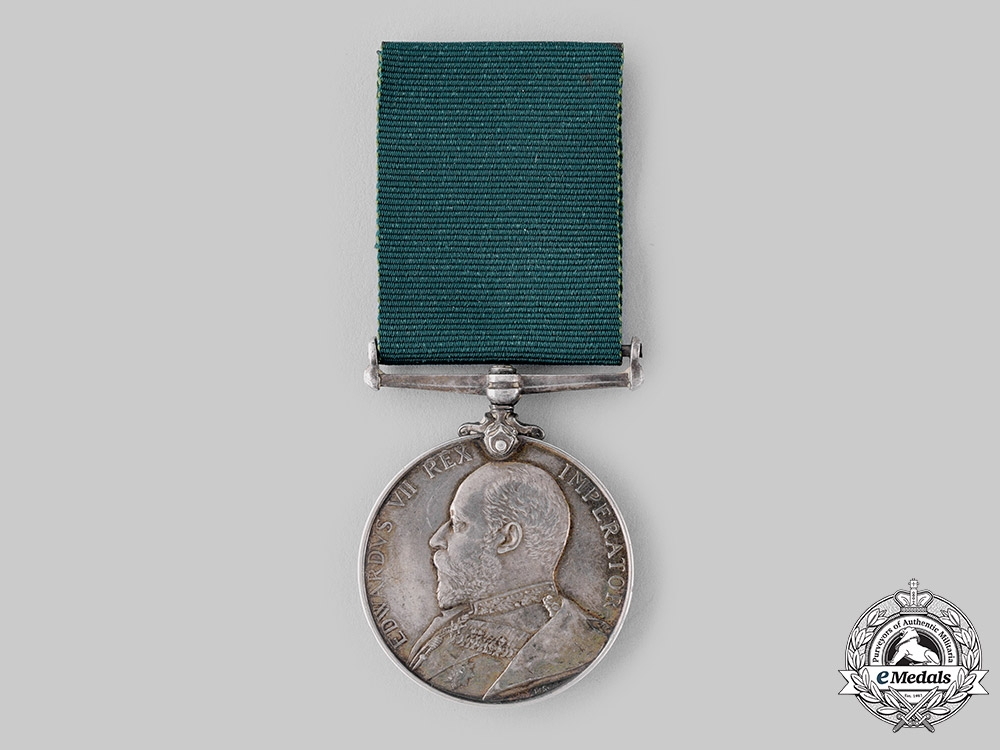 United Kingdom. A Volunteer Long Service Medal, Duke of Cornwall's Light Infantry