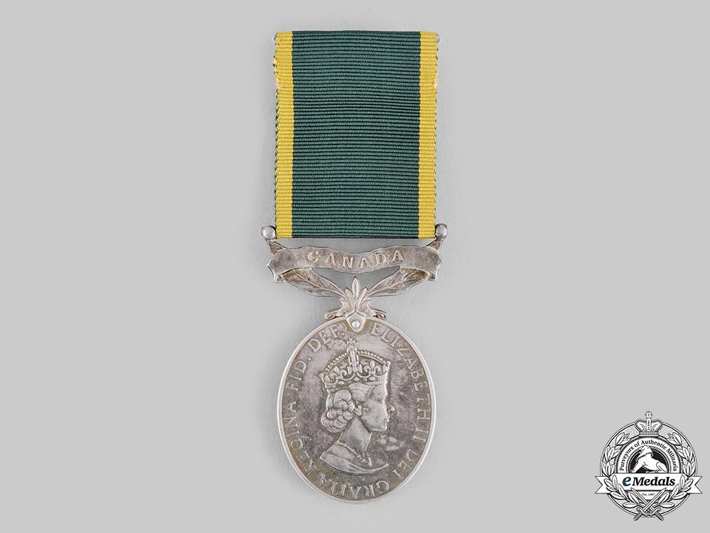 United Kingdom. An Efficiency Medal with Canada Scroll, Un-Named