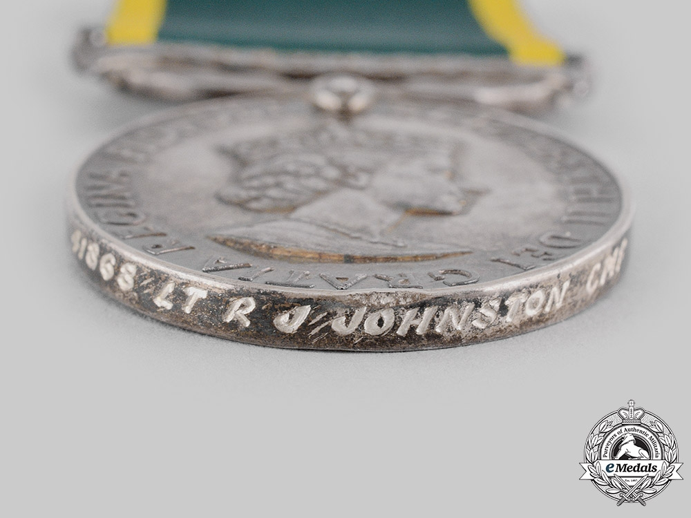 United Kingdom. An Efficiency Medal with Australia Scroll, Citizen Military Forces