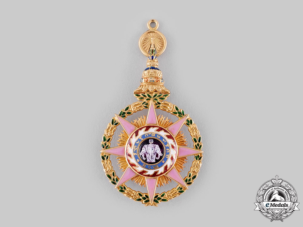 Thailand, Kingdom. A Most Illustrious Order of Chula Chom Klao in Gold, III Class Officer