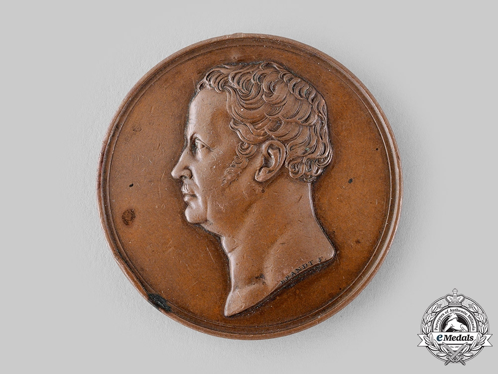 Prussia, Kingdom. An 1840 Medallion for the Guard Corps by Heinrich Franz Brandt