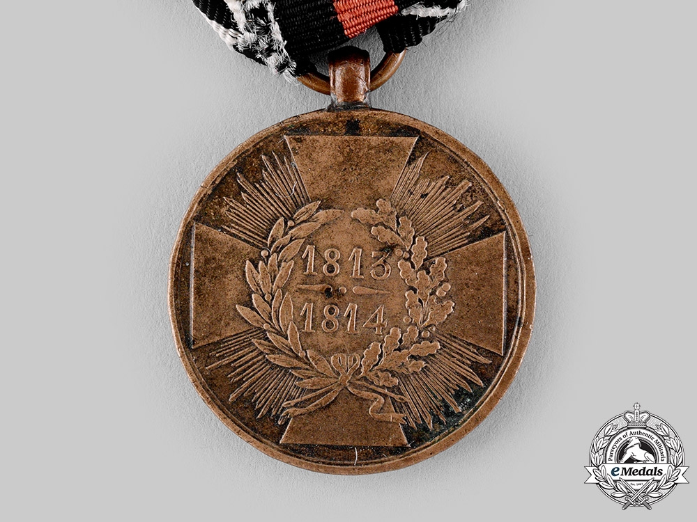 Prussia, Kingdom. A War Commemorative Medal for Fighters 1813/1814