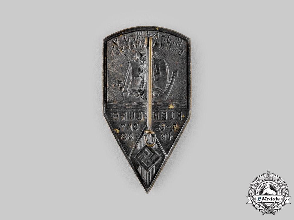 Germany, HJ. A 1933 Flensburg HJ/BDM/DJ Joint Deployment Badge