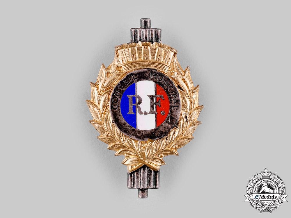 France, III. Republic. A Municipal Council Badge, by Resta, Paris
