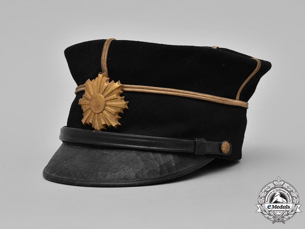 Japan, Empire. An Army Lieutenant's Dress Cap, c. 1920