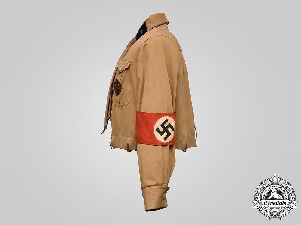 Germany, SA. A Sturmabteilung (SA) Group Hesse Scharführer's Brownshirt