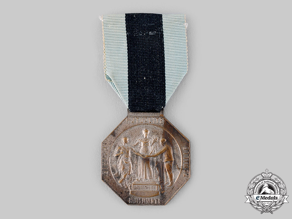 France, III Republic. A National Federation of Combatants Reinsurance Merit Medal