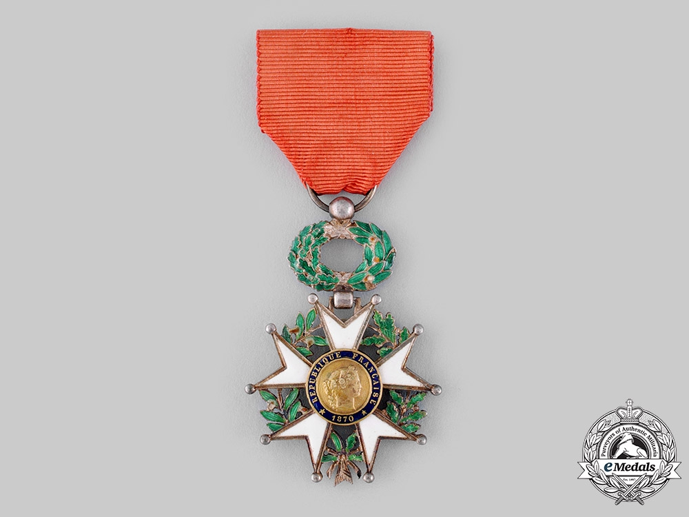 France, III Republic. An Order of the Legion of Honour, V Class Knight, c.1945