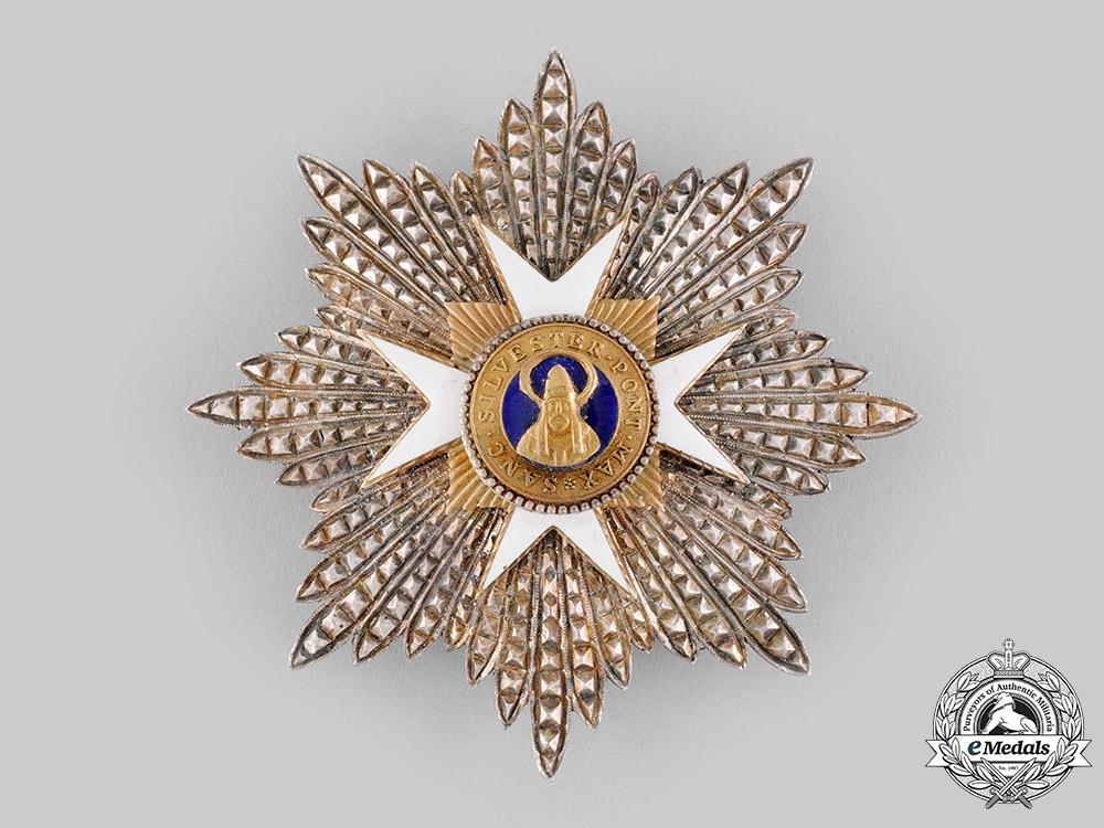 Vatican, Italian Unification. An Order of St. Sylvester, Grand Cross Star, c.1950