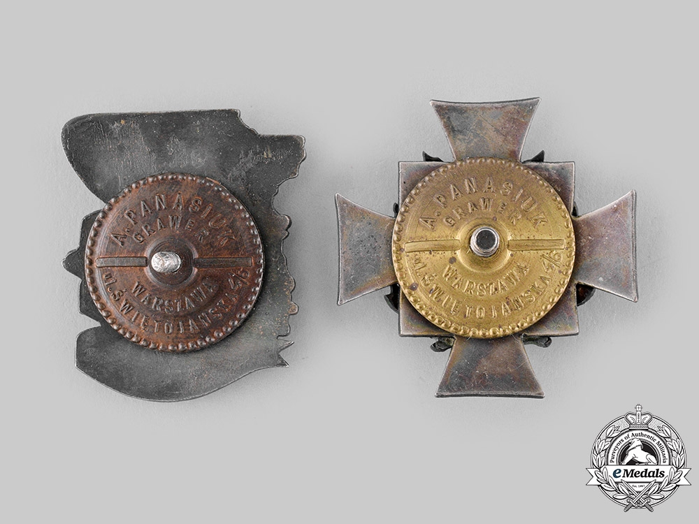 Poland, People's Republic. Two Post-1945 Manufactured Regimental Badges