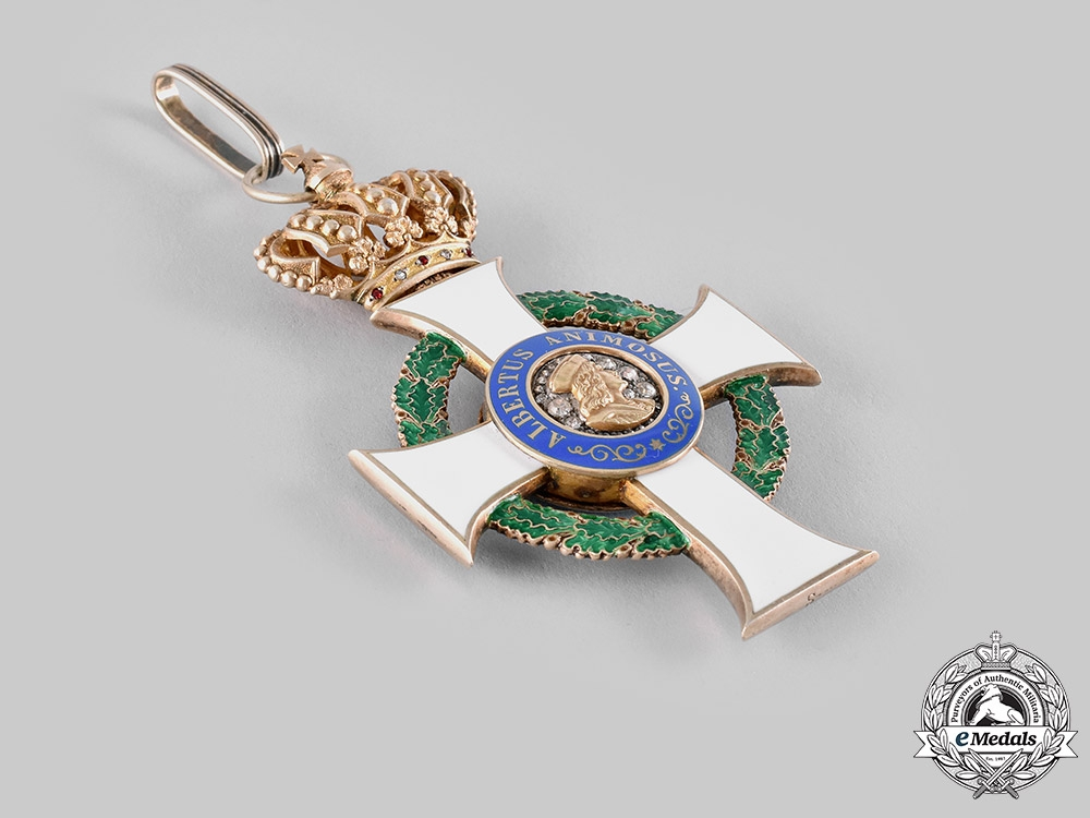 Saxony, Kingdom. An Albrecht Order, Commander's Cross with Brilliance, by G.A. Scharffenberg