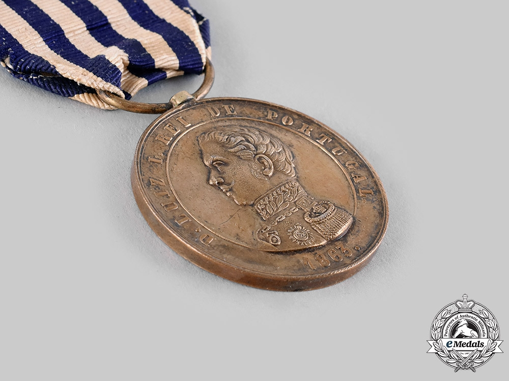 Portugal, Kingdom. A Military Valor Gold Medal c.1870