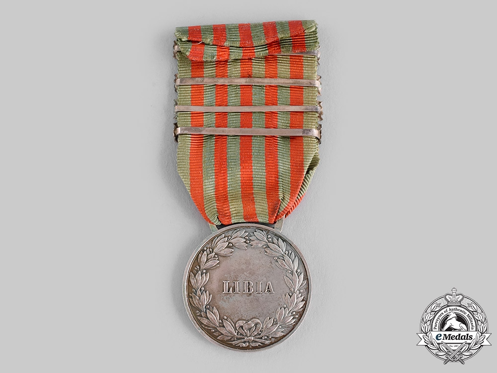 Italy, Kingdom. A Libya Campaign Medal, Four Clasps
