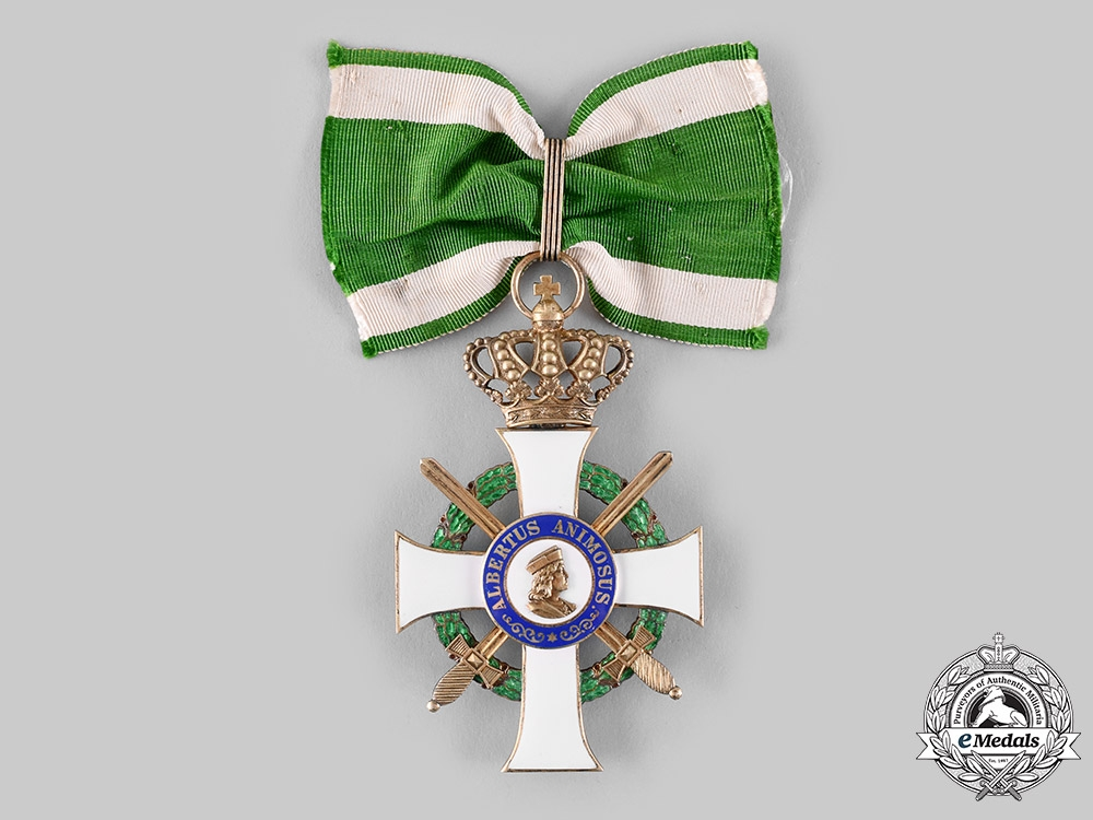 Saxony, Kingdom. An Albrecht Order Commander's Badge, by Alfred Roesner, c.1914