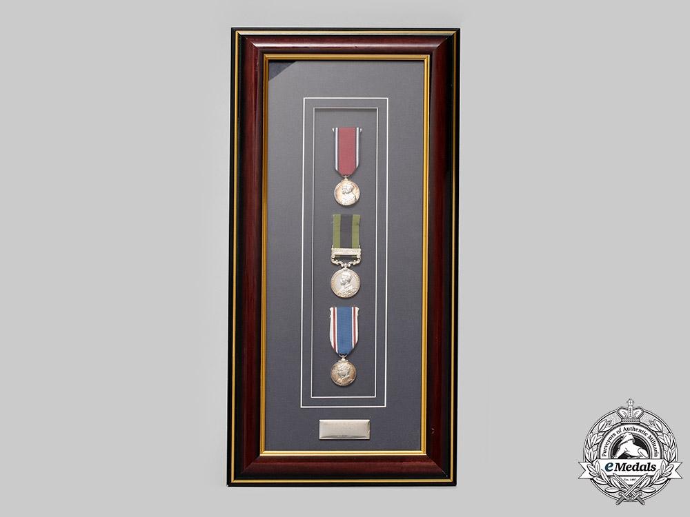 United Kingdom. An India Service Group of Three, to Major James Rudolph Douglas Van Renen, King's Own Rifles, 69th Punjabis