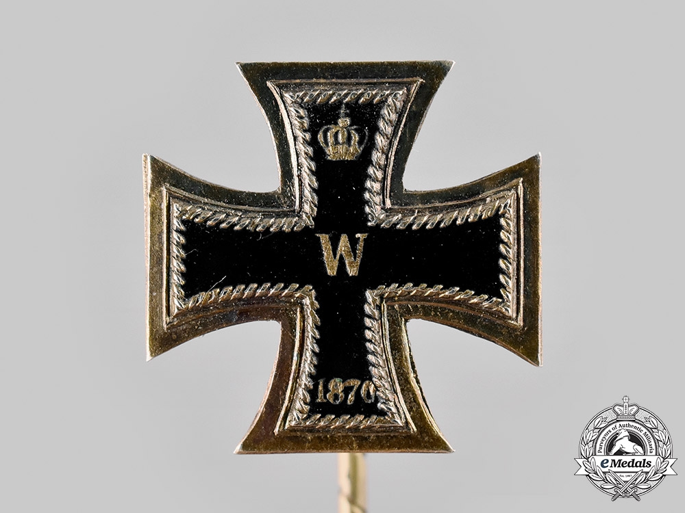 Germany, Imperial. An 1870 Iron Cross I Class Stick Pin, with Case, by Josef Brams