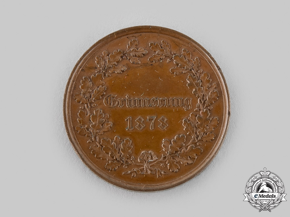 Germany, Prussia. A Medal Commemorating the Assassination Attempt on Kaiser Wilhelm I in 1878, Bronze Grade