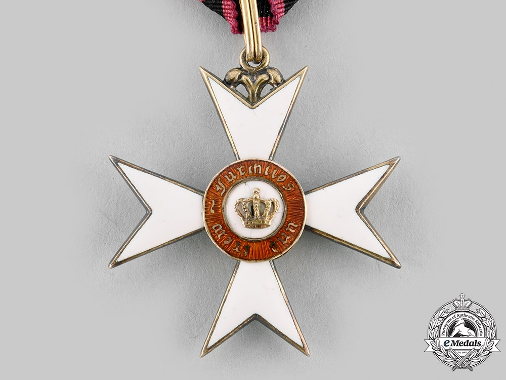 Wurttemberg, Kingdom. An Order of the Crown in Gold, Knight's Cross, c.1900