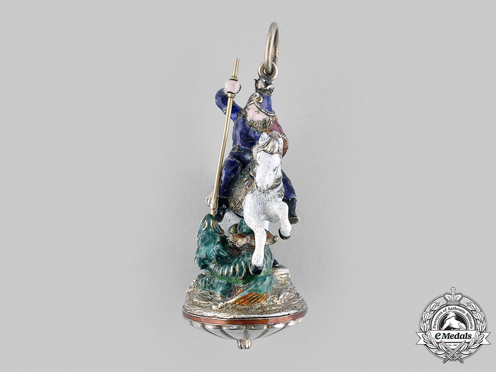 """United Kingdom. A Most Noble Order of the Garter, """"The Great George"""" Collar Badge, c. 1860"""