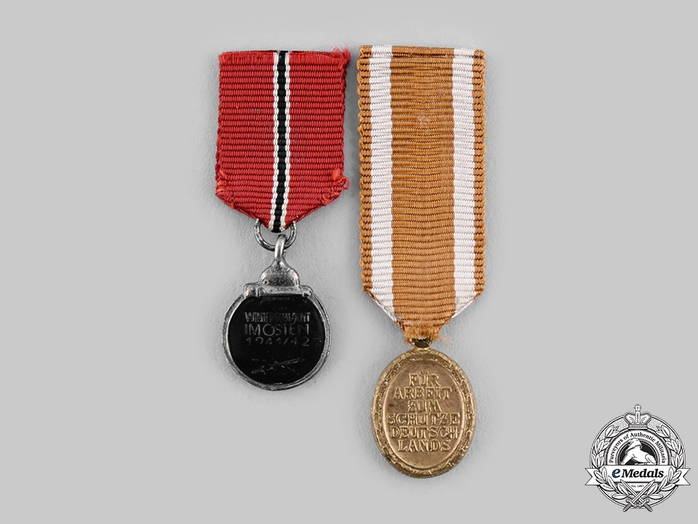 Germany, Wehrmacht. A Pair of Miniature Medals