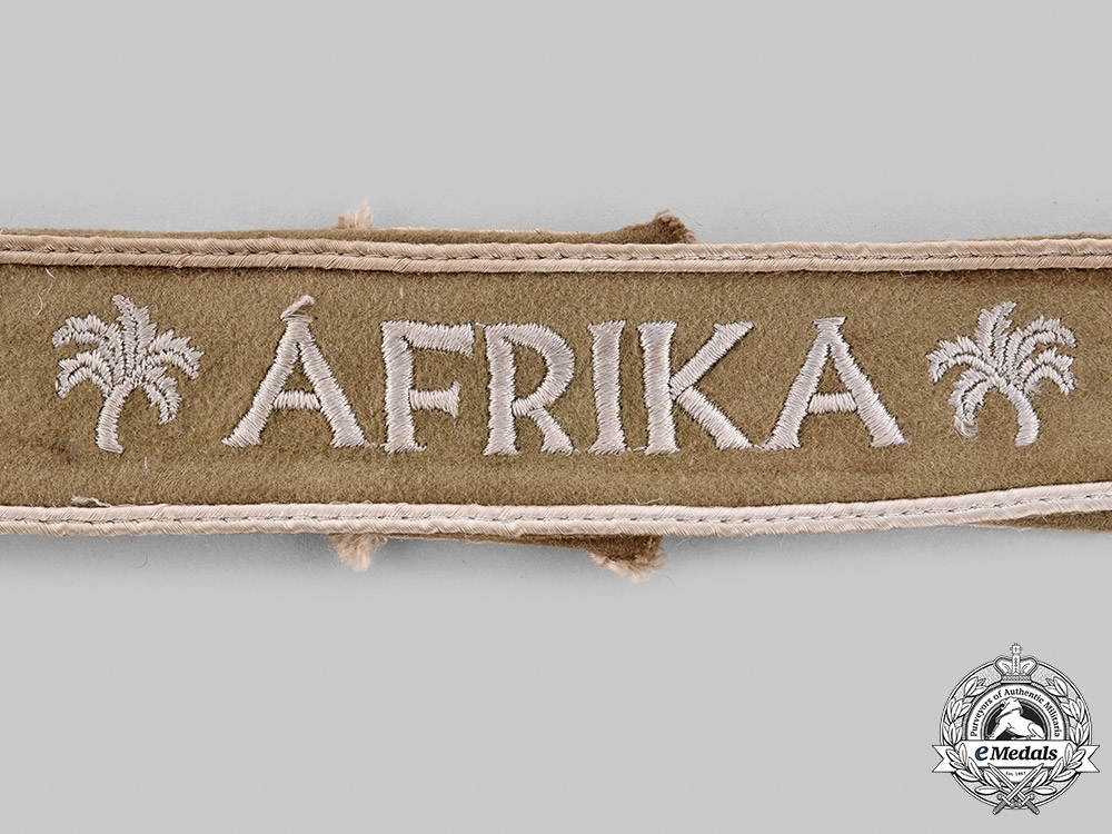 Germany, Wehrmacht. An Afrika Cuff Title