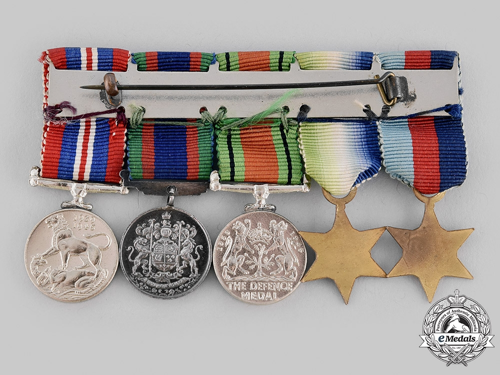 Canada, Commonwealth. An Atlantic Campaign Medal Group with Miniatures