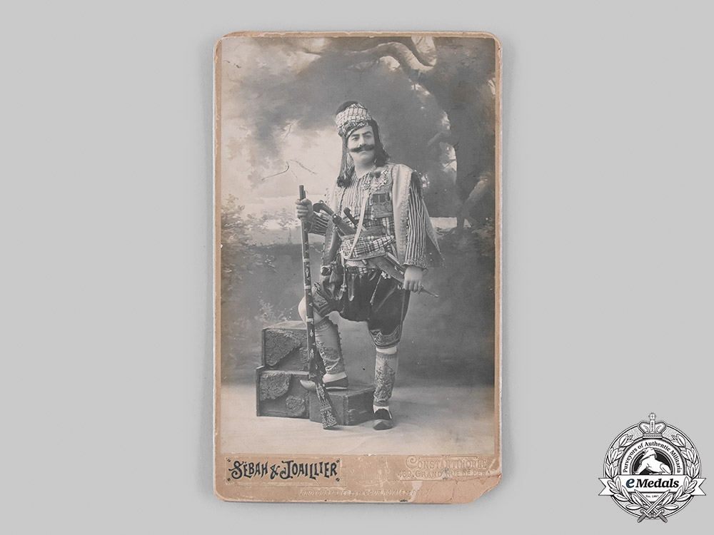 Turkey, Ottoman Empire. A Finely Decorated Turkish Soldier's Studio Photograph, c.1910