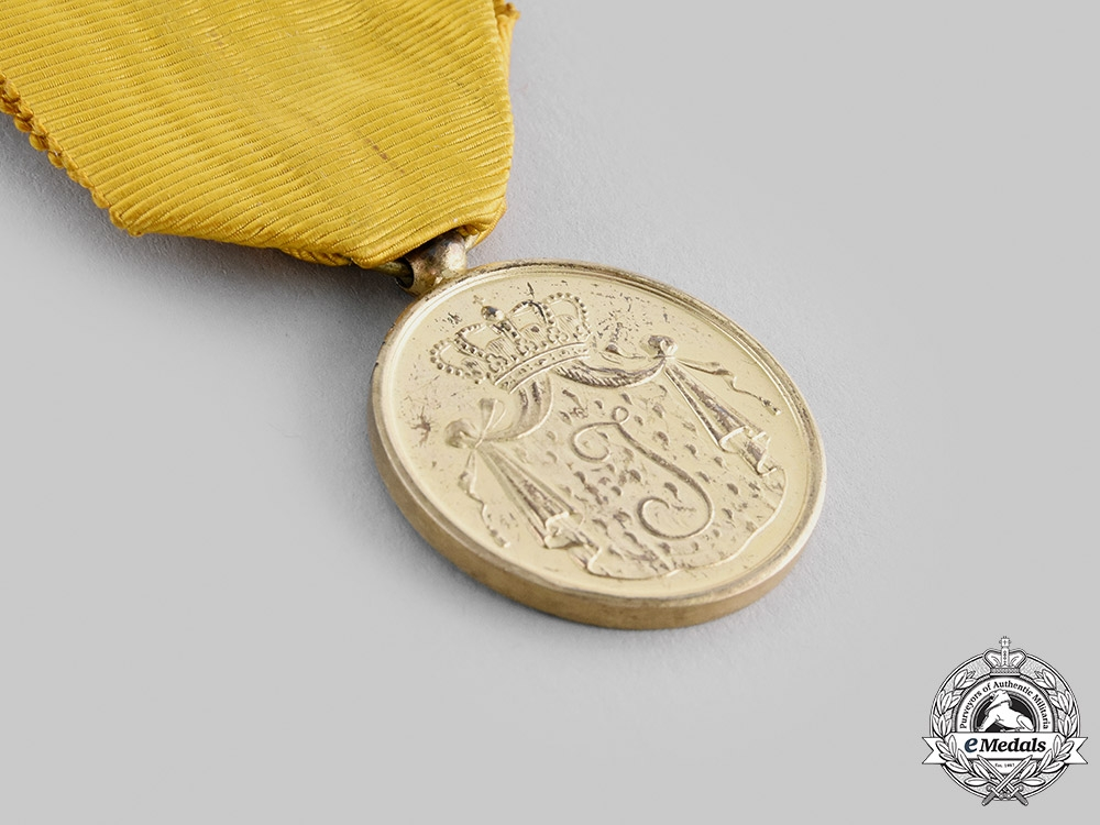 Netherlands, Kingdom. A Navy Long Service Medal, Dutch Royal Navy Long Service Medal, Gold Grade, c.1950