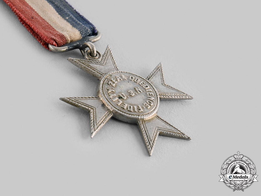 """United States of America. A Navy Good Conduct Medal, """"Nickel Cross"""", c.1875"""