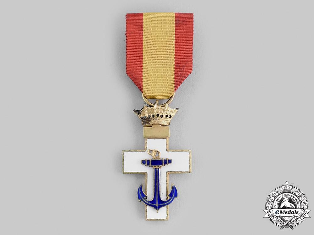 Spain, Fascist State. An Order of Naval Merit, I Class Cross, c.1950