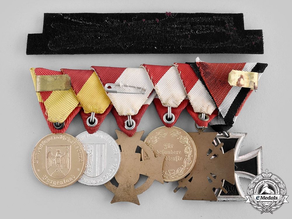 Austria, Republic. A 1957 Issue Medal Bar with Awards