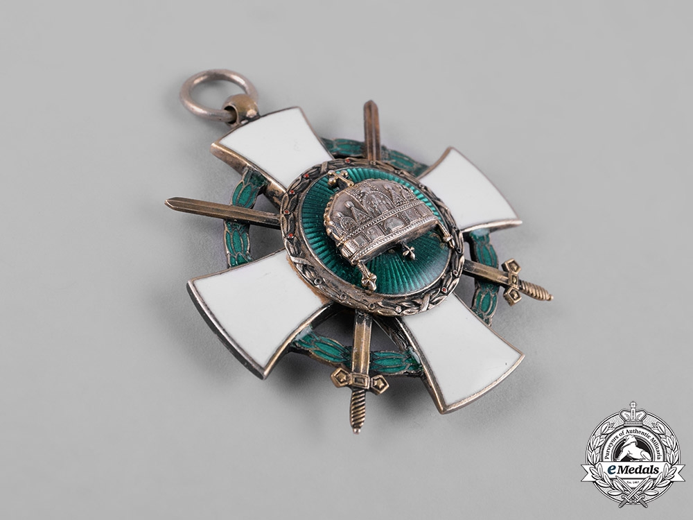 Hungary, Regency. An Order of the Holy Crown, V Class Knight's Badge with War Decoration & Swords 1942