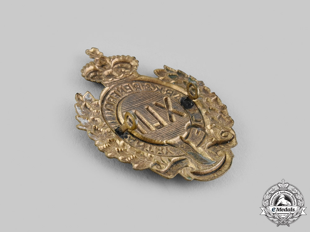 Canada, Dominion. A 42nd Lanark & Renfrew Infantry Regiment Glengarry Badge c. 1900