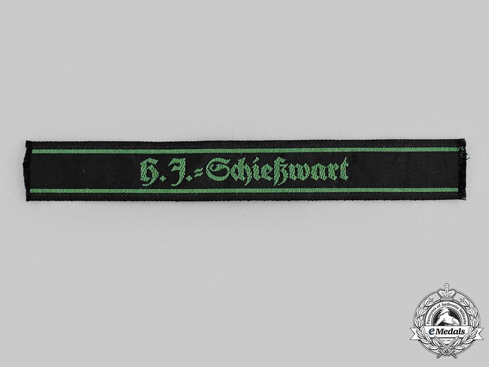 Germany, HJ. A Marksmanship Warden Cuff Title