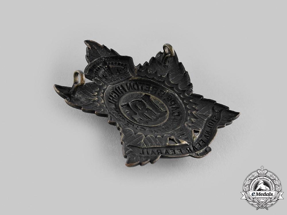 "Canada, CEF. A 185th Infantry Battalion ""Cape Breton Highlanders"" Insignia Set, c.1916"