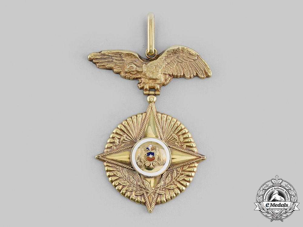 Chile, Republic. An Order of Military Merit in Gold, I Class Commander, c.1945