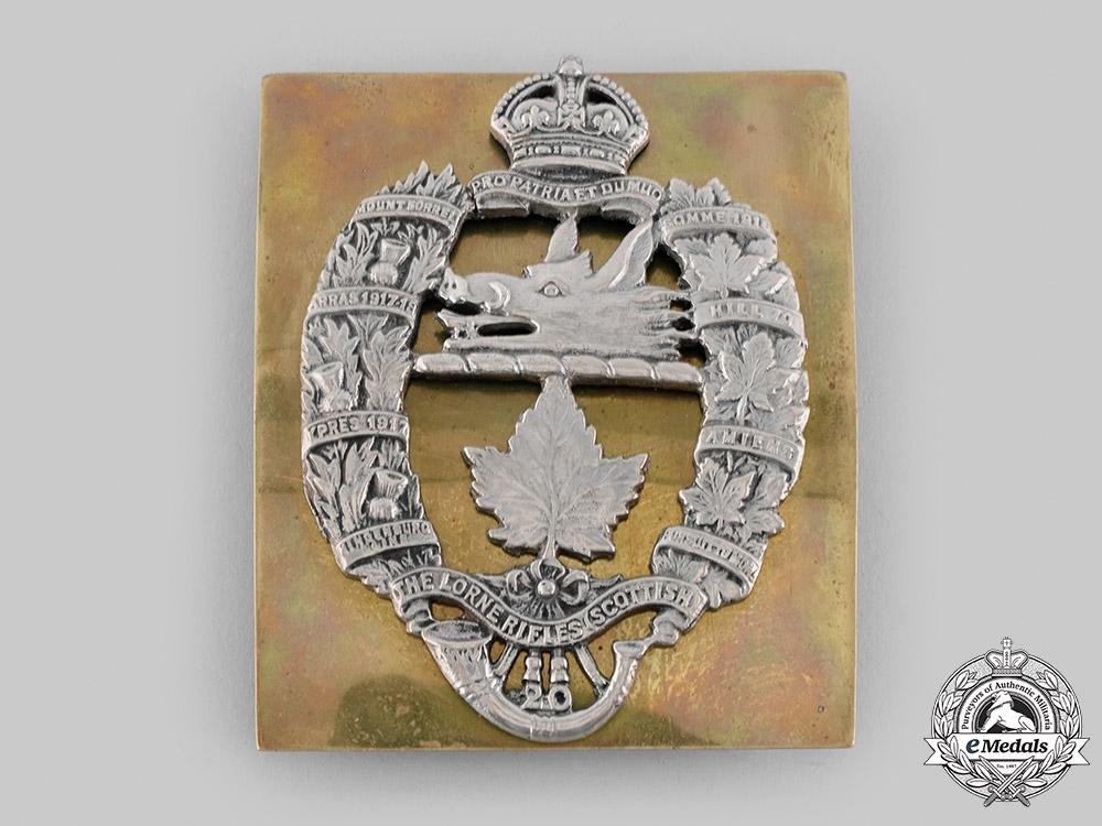 Canada, Commonwealth. A Lorne Rifles (Scottish) Shoulder Belt Plate, c.1935