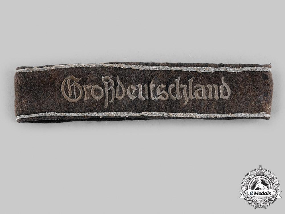Germany, Heer. A Panzergrenadier Division Großdeutschland Cuff Title, first pattern
