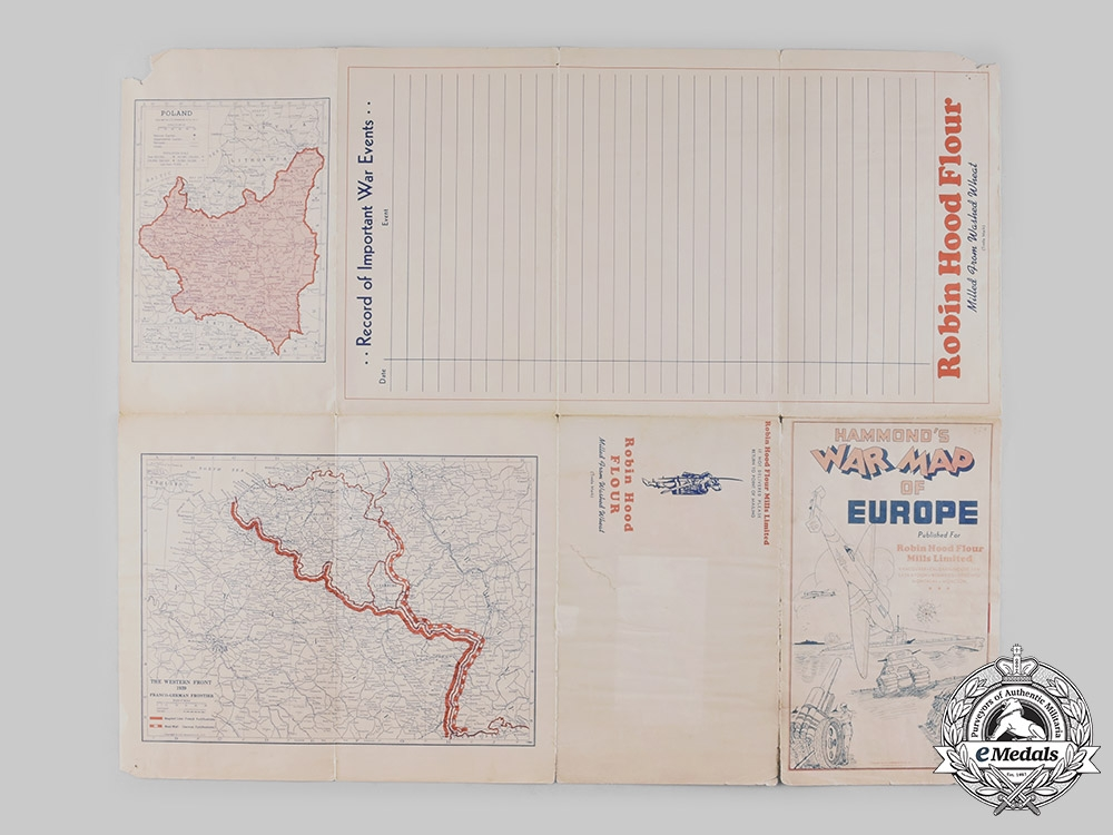 Canada. A Pair of Second War Period Map Booklets Belonging to a Canadian Soldier