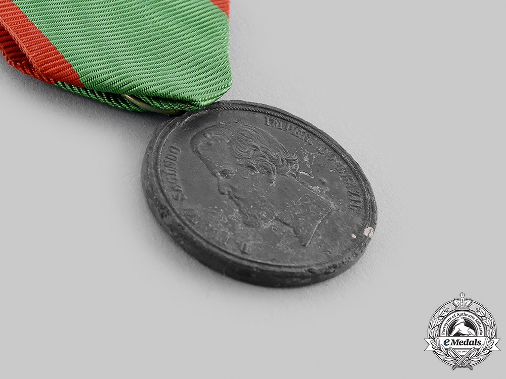 Brazil, Empire. A Medal for the Uruguay Campaign 1852, III Class Zinc Grade for Enlisted Men
