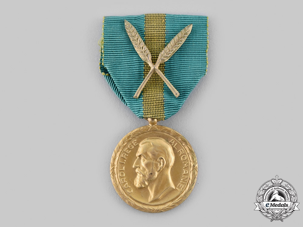 Romania, Kingdom. A Medal of Commercial and Industrial Merit, I Class Gold Grade, c.1930